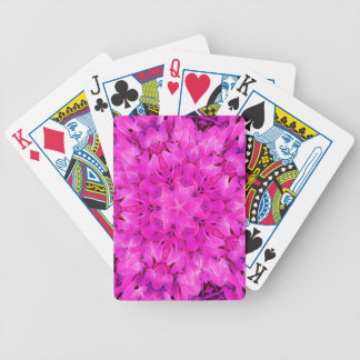 Kaleidoscope Design Hot Pink Floral Art Bicycle Playing Cards
