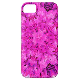 Kaleidoscope Design Hot Pink Floral Art iPhone 5 Cases