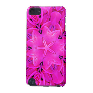 Kaleidoscope Design Hot Pink Floral Art iPod Touch 5G Covers