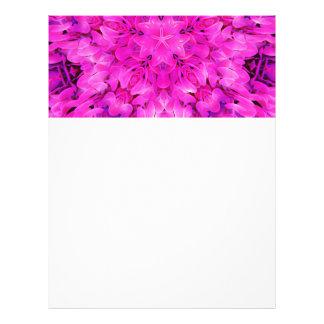 Kaleidoscope Design Hot Pink Floral Art Letterhead