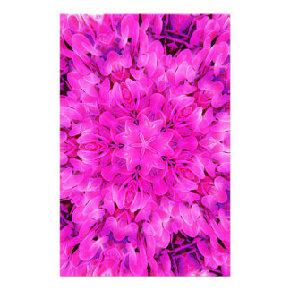 Kaleidoscope Design Hot Pink Floral Art Stationery