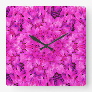 Kaleidoscope Design Hot Pink Floral Art Wallclock