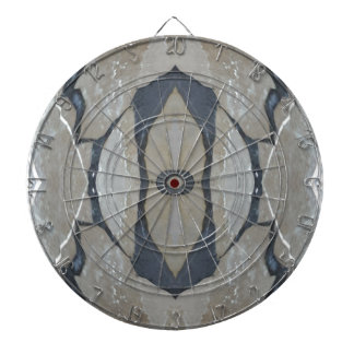 Kaleidoscope Design Light and Dark Gray Pattern Dartboard