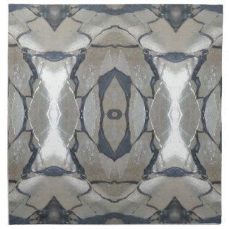 Kaleidoscope Design Light and Dark Gray Pattern Napkin