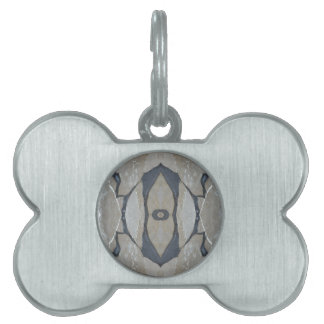 Kaleidoscope Design Light and Dark Gray Pattern Pet Tag