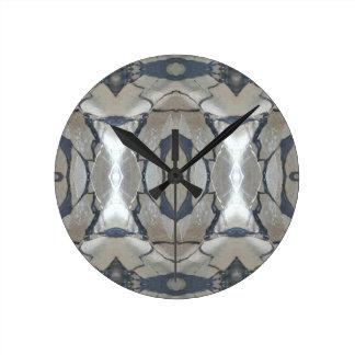 Kaleidoscope Design Light and Dark Gray Pattern Wall Clock