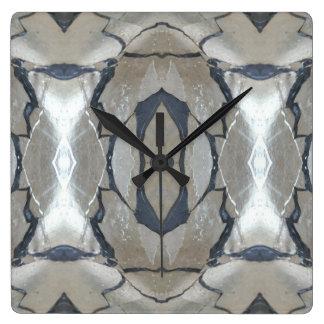 Kaleidoscope Design Light and Dark Gray Pattern Wallclock