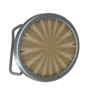 Kaleidoscope Design Light Brown Rustic Floral Belt Buckles