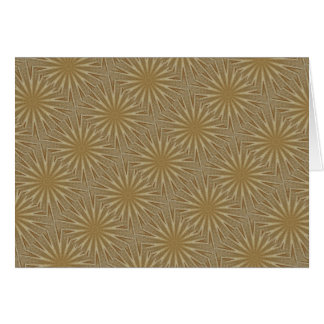 Kaleidoscope Design Light Brown Rustic Floral Card