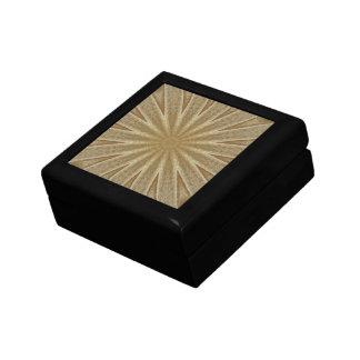 Kaleidoscope Design Light Brown Rustic Floral Gift Box