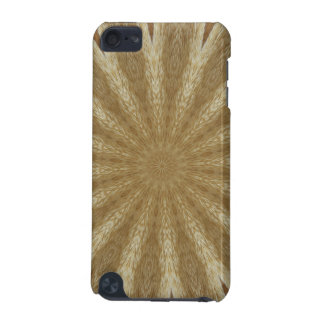 Kaleidoscope Design Light Brown Rustic Floral iPod Touch (5th Generation) Case