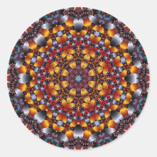 Kaleidoscope Design No.RB4 Round Sticker