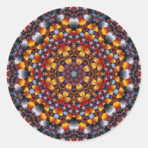 Kaleidoscope Design No.RB4 Stickers