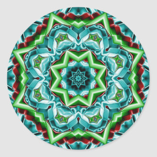Kaleidoscope Design No.T4R Sticker