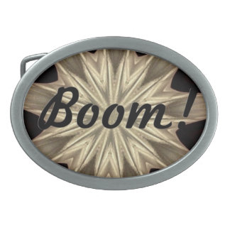 Kaleidoscope Design Oval Belt Buckle
