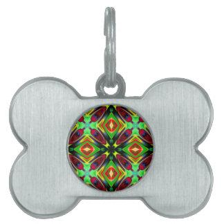 Kaleidoscope Design Pet Tag