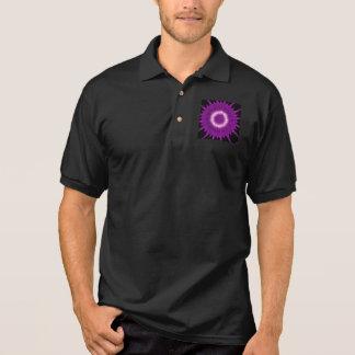 Kaleidoscope Design Purple Pink Art Polo Shirt
