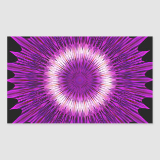 Kaleidoscope Design Purple Pink Art Sticker