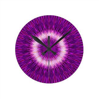 Kaleidoscope Design Purple Pink Art Wall Clock