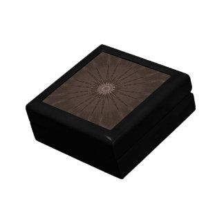 Kaleidoscope Design Rustic Brown Gift Boxes