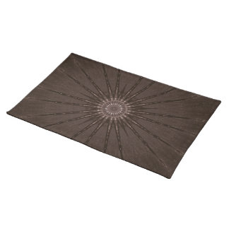 Kaleidoscope Design Rustic Brown Placemat
