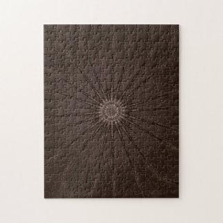 Kaleidoscope Design Rustic Brown Puzzles