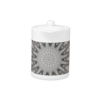 Kaleidoscope Design Rustic Light Gray Colors