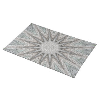 Kaleidoscope Design Rustic Light Gray Colors Placemat