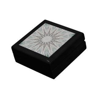 Kaleidoscope Design Rustic Light Gray Colors Trinket Boxes