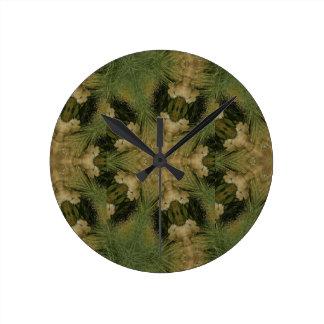 Kaleidoscope Design Star from Pampas Grass Green Clocks
