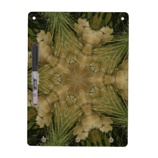 Kaleidoscope Design Star from Pampas Grass Green Dry Erase Board
