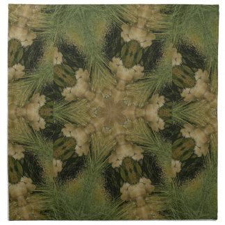 Kaleidoscope Design Star from Pampas Grass Green Napkin
