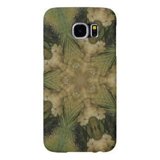 Kaleidoscope Design Star from Pampas Grass Green Samsung Galaxy S6 Cases