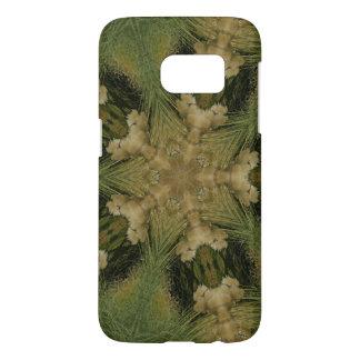 Kaleidoscope Design Star from Pampas Grass Green Samsung Galaxy S7 Case