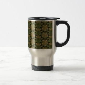 Kaleidoscope Design Star from Pampas Grass Green Travel Mug