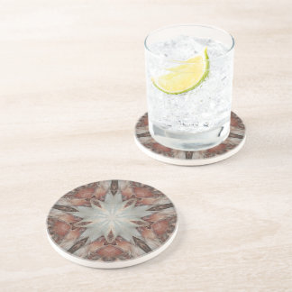 Kaleidoscope Design Star from Trunk of Palm Tree Coaster