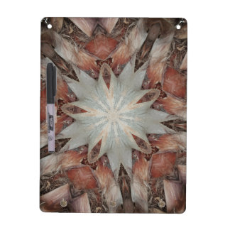Kaleidoscope Design Star from Trunk of Palm Tree Dry Erase Board