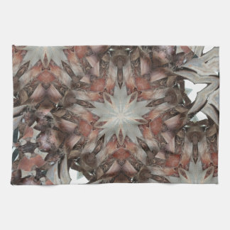 Kaleidoscope Design Star from Trunk of Palm Tree Kitchen Towel