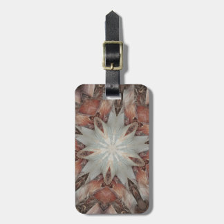 Kaleidoscope Design Star from Trunk of Palm Tree Luggage Tag