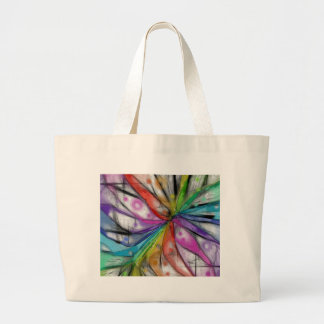 Kaleidoscope Dragonfly Large Tote Bag
