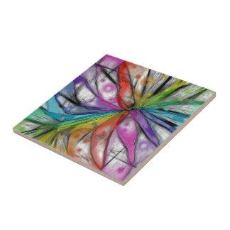 Kaleidoscope Dragonfly Tile