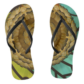 Kaleidoscope Dream Abstract Flip Flops