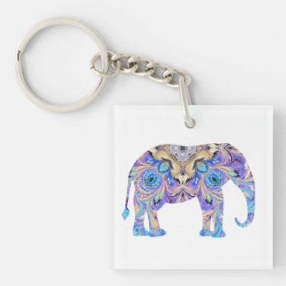 Kaleidoscope Elephant Keychain