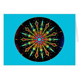 Kaleidoscope elipse card
