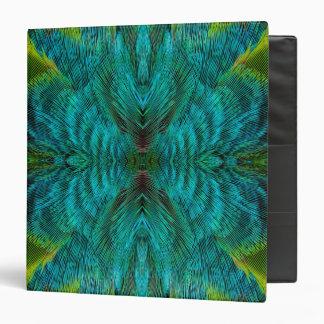 Kaleidoscope Feather Design 3 Ring Binders
