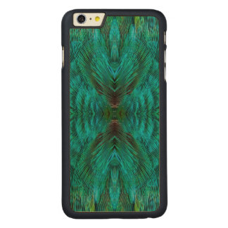 Kaleidoscope Feather Design Carved Maple iPhone 6 Plus Case
