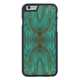 Kaleidoscope Feather Design Carved® Maple iPhone 6 Slim Case