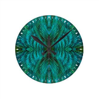 Kaleidoscope Feather Design Clocks