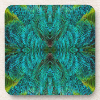 Kaleidoscope Feather Design Drink Coasters