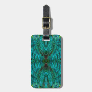 Kaleidoscope Feather Design Luggage Tag
